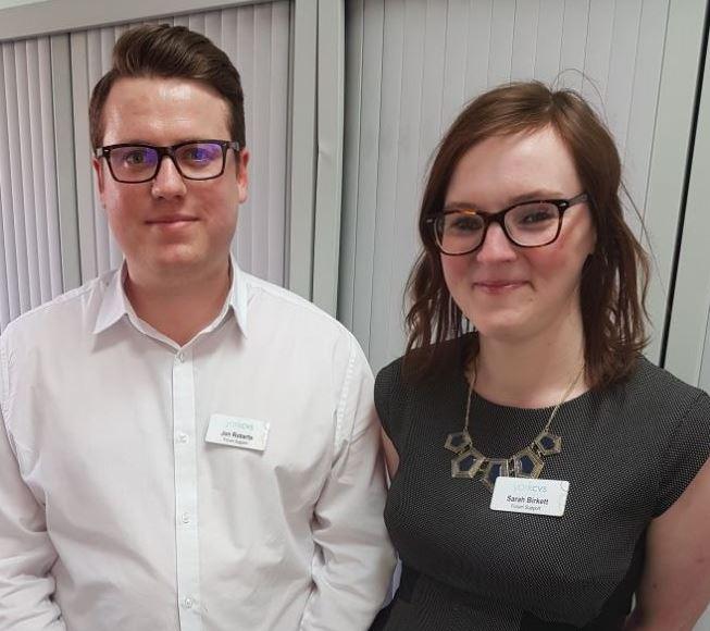 Jonathan Roberts and Sarah Birkett