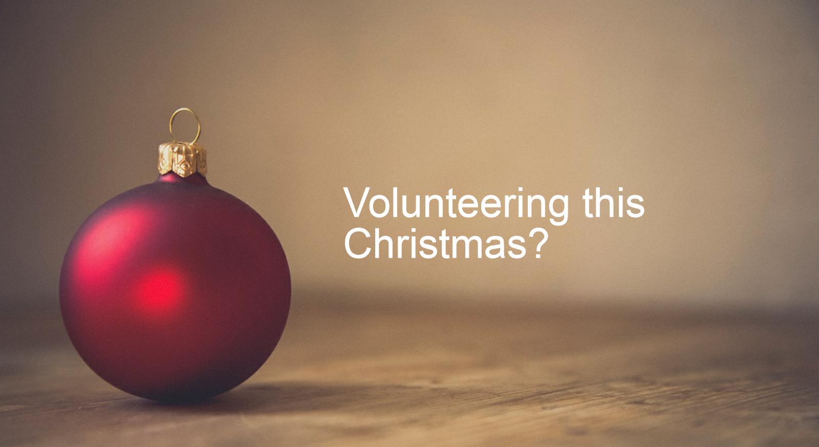 Volunteering over Christmas