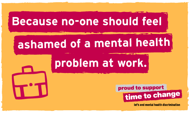 Time to Change, is a growing movement of people changing how we all think and act about mental health.