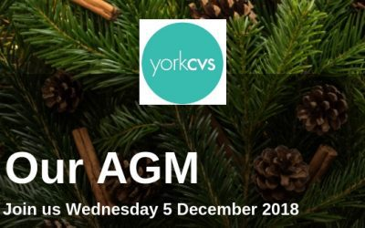 Our AGM is fast approaching! Join us on Wednesday 5 December