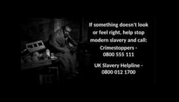 Don't turn away: help us stop modern slavery
